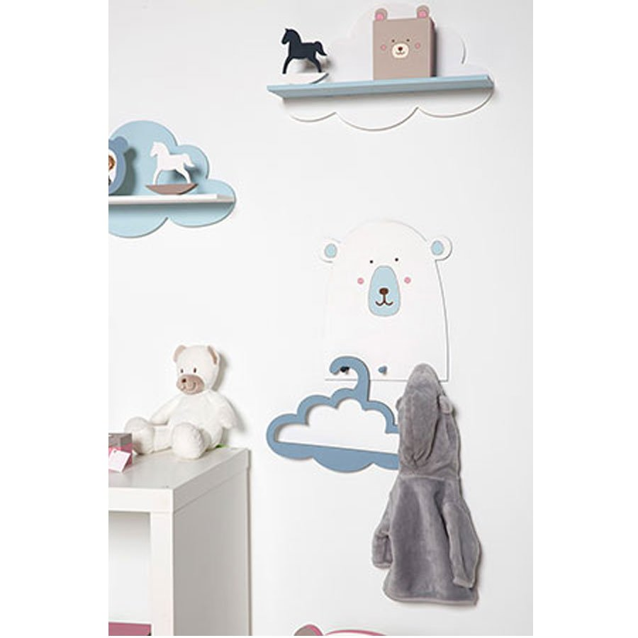 Tampon bois - Adorable - Nuage - 3 x 3 cm