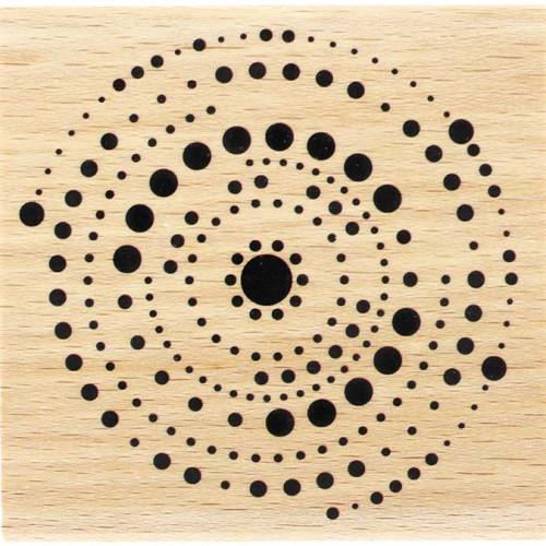 Capsule Avril 2017 - Tampon Bois - Cercles en points - 7 x 7 cm