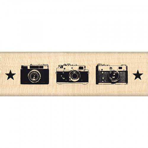 Instants Selfie - Tampon bois - Trio Photos - 3 x 10 cm