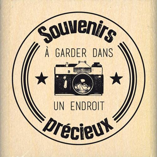 Instants Selfie - Tampon bois - Label Photo - 5 x 5 cm