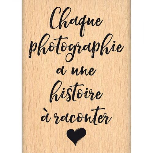 Instants Selfie - Tampon bois - Histoire de photo - 5 x 7 cm