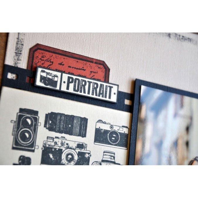 Instants Selfie - Tampon bois - Photo Portrait - 2 x 7 cm