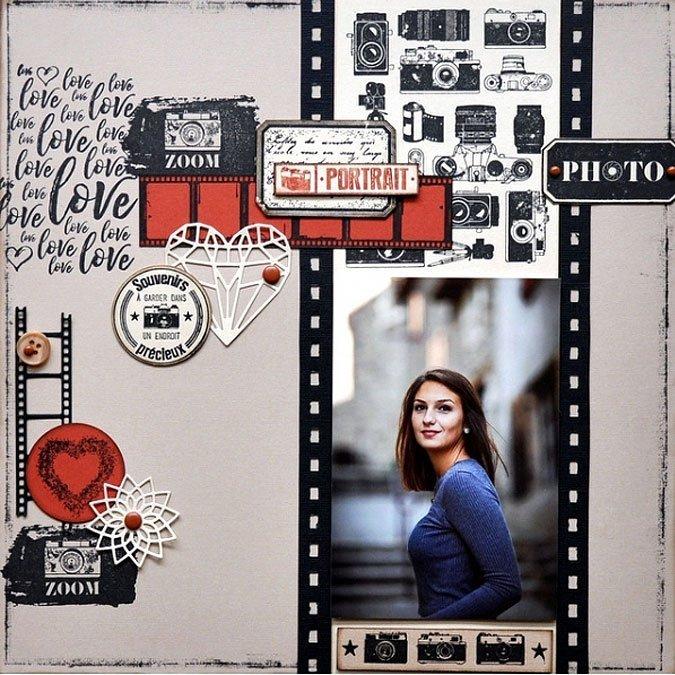 Instants Selfie - Tampon bois - Brume de cœur - 5 x 5 cm