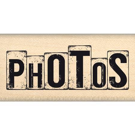 Caractères authentiques - Tampon bois - «Dés» photos - 5,5 x 2 cm