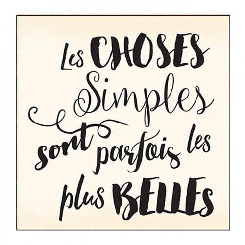 Tampon bois - Choses simples - 6 x 6 cm