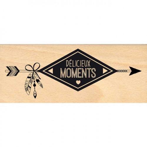 Dakota Valley - Tampon Bois - Délicieux moments - 6 x 15 cm