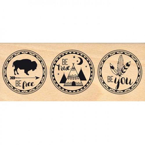 Dakota Valley - Tampon Bois - Be You - 6 x 15 cm