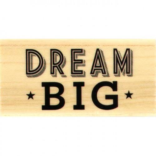 Capsule Février 2017 - Tampon bois - Dream Big - 6 x 3 cm
