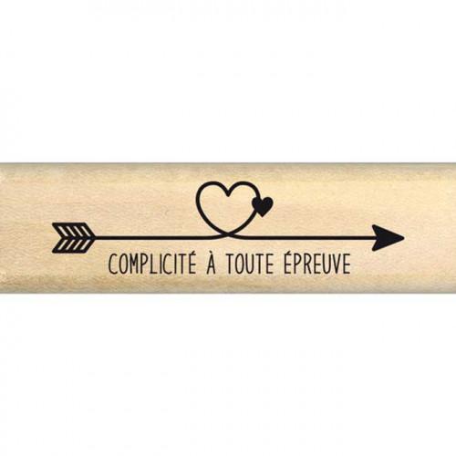 Envolée poétique - Tampon Bois - Flèche complicité - 2 x 7 cm