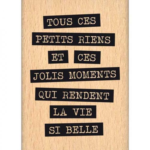 Histoire naturelle - Tampon Bois - Jolis riens - 5 x 7 cm