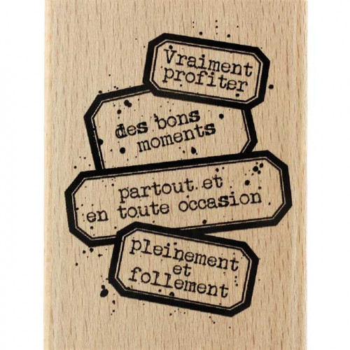 Gypsy Forest - Tampon Bois - Vraiment profiter - 6 x 8 cm