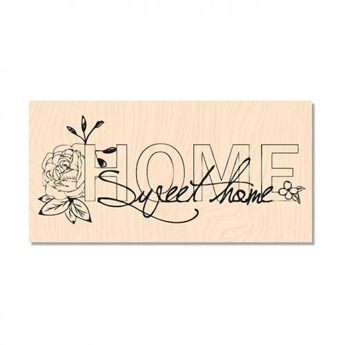 Douceur Hivernale - Tampon bois Sweet Home - 10 x 4 cm