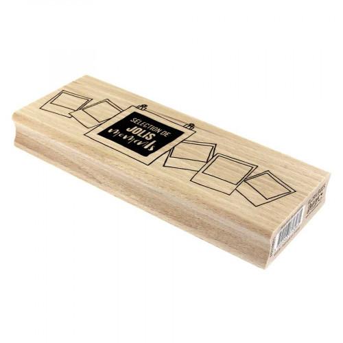 Tampon bois Sélection de moments - 15 x 6 cm