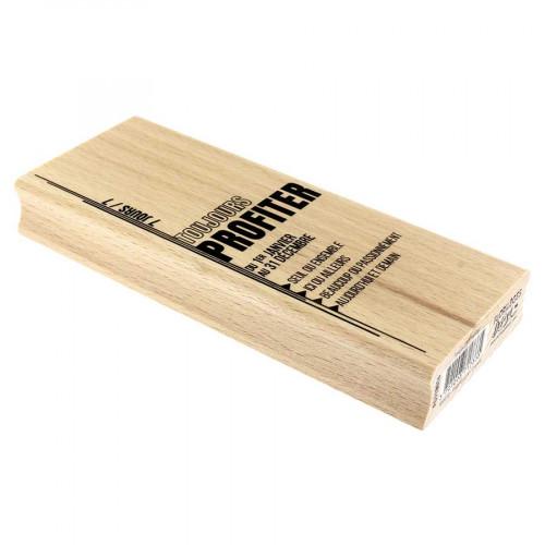 Tampon bois Toujours profiter - 6 x 15 cm