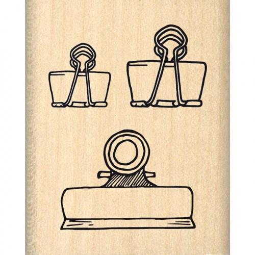 Tampon bois Trois pinces - 4 x 5 cm