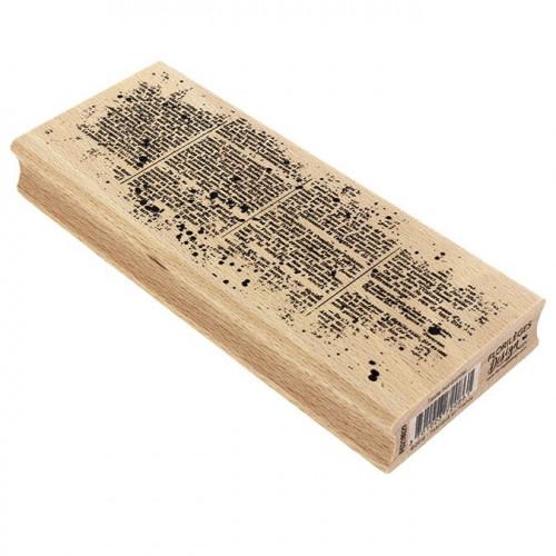 Tampon bois Texte horizontal - 15 x 6 cm