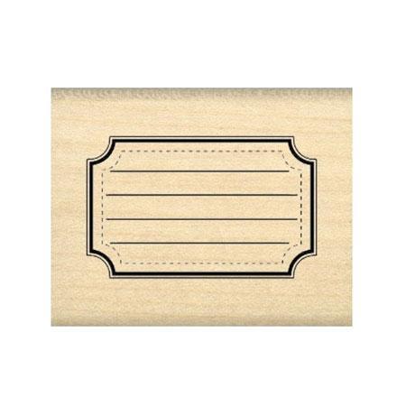 Tampon bois - Etiquette école - 4 x 2,5 cm
