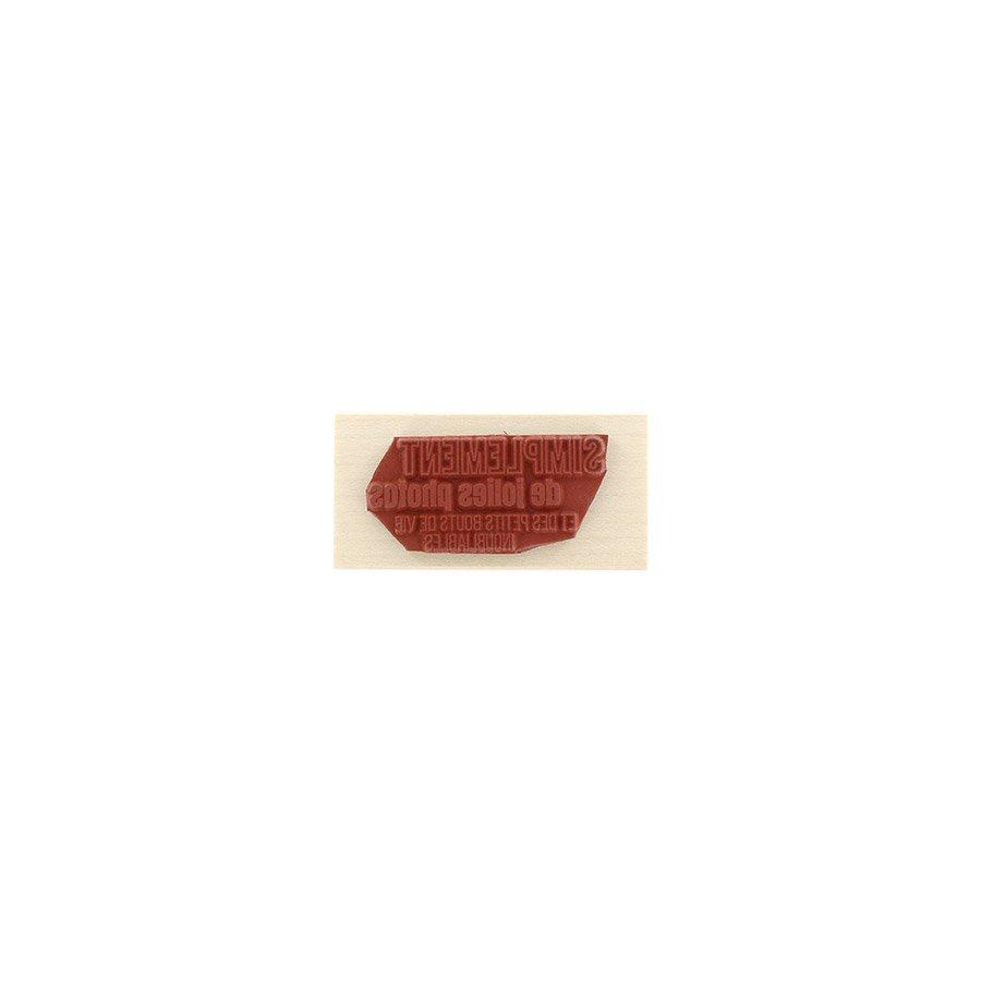 Tampon bois De jolies photos - 6 x 3 cm