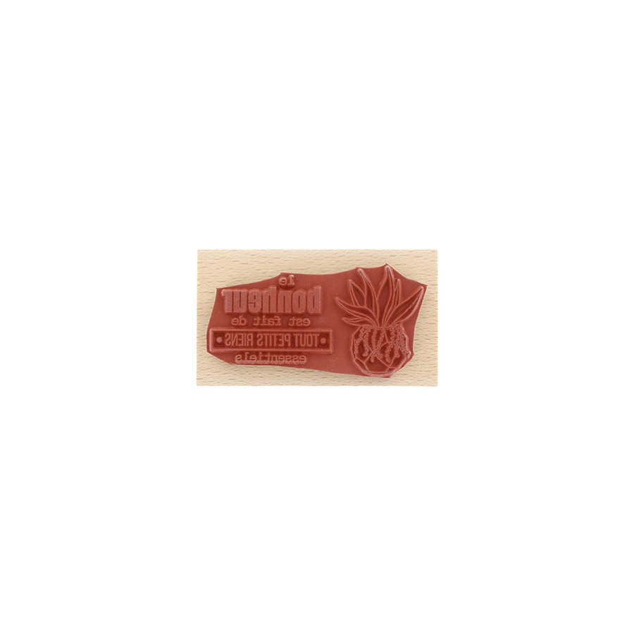 Tampon bois Tout petits riens - 4 x 7 cm
