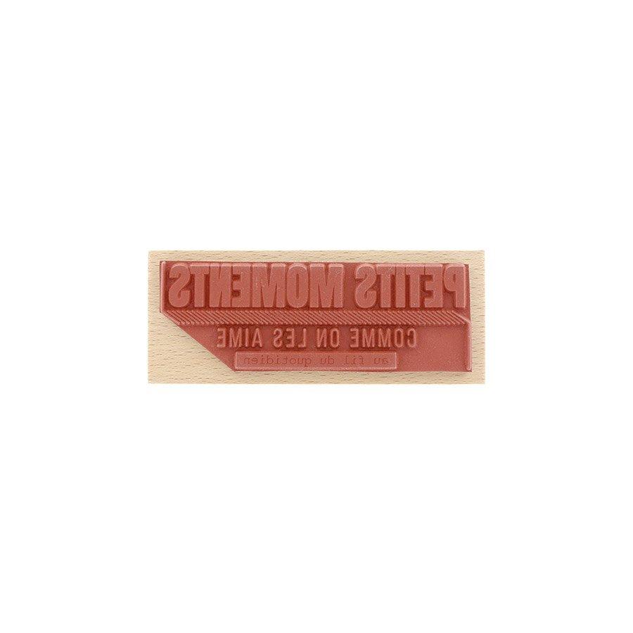 Tampon bois Comme on les aime - 10 x 4 cm
