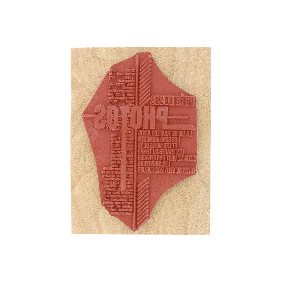 Tampon bois Traces du temps - 10 x 13 cm