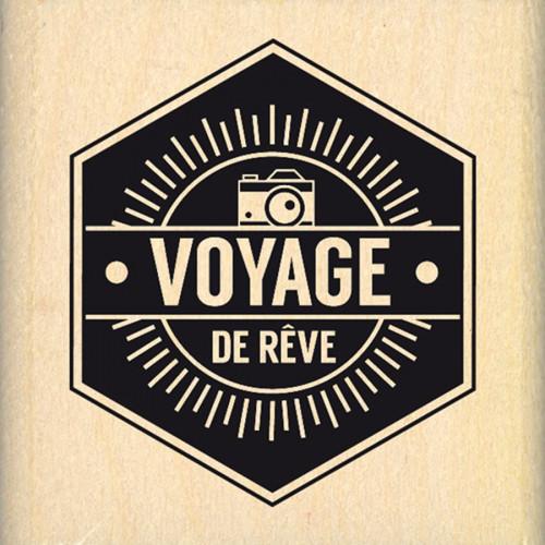 Capsule Août 2016 - Tampon Bois - Voyage de rêve - 5 x 5 cm