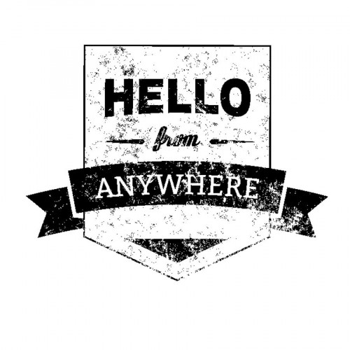 Tampon bois  - Hello anywhere - Sweet Memories - 5,6 x 4,5 cm