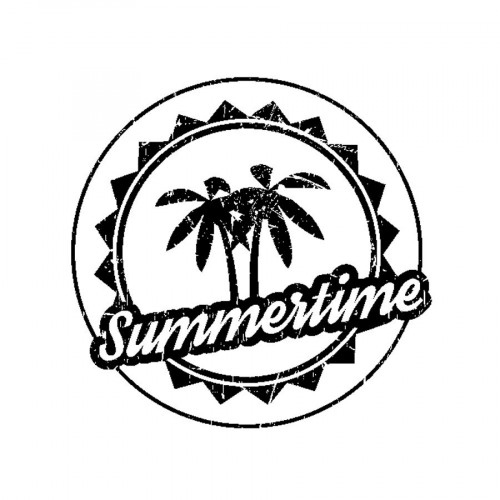 Tampon bois  - Summertime - Sweet Memories - 4,5 x 4,5 cm