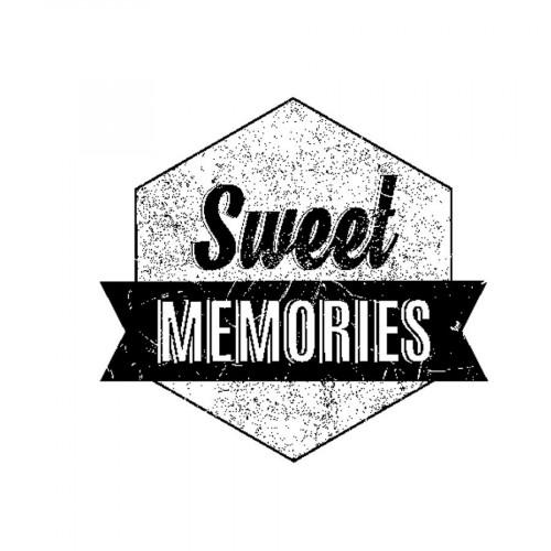 Tampon bois - Sweet Memories - Sweet Memories - 3,7 x 4 cm