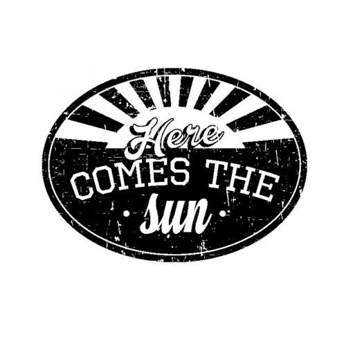 Tampon bois  - Comes the sun - Sweet Memories - 5,6 x 4,5 cm