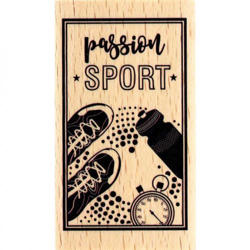Capsule Avril 2017 - Tampon Bois - Passion Sport - 4 x 7 cm