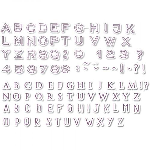 Set de 100 tampons mousse - Mini Alphabet
