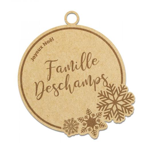 Boule de Noël Famille à personnaliser